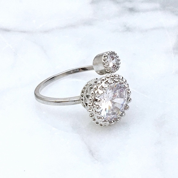 Jewelry - Adjustable CZ Fashion Ring